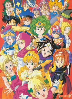 A Toriyama piece of all the ladies in Dragon Quest I to VI.