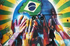 Muros espalhados pelo Brasil recebem grafites em homenagem à Copa - Terra Brasil