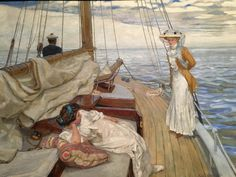 Calme blanc (White calm), 1908 by Raoul du Gardier (peintre français) - March 2017, Telfair Academy Mansion and Art Museum. http://webadmin.fr
