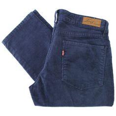 Levi'S Curve Iddemi Skinny Ink Blue Cord Jeans