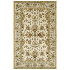 Hand-tufted Anabelle Ivory Wool Area Rug (4' x 6')