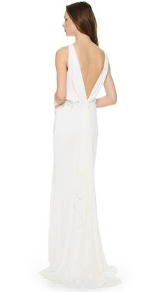 Badgley Mischka Collection Drape Back Loop Bridal Gown Wedding Dress | Get paid up to 9.2% Cashback when you shop at SHOPBOP with your DubLi membership. Not a member? Sign up for FREE at www.downrightdealz.net