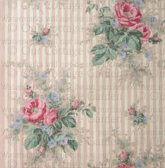 * Vintage FLORAL Wallpapers * c1940s*  Repin from ourcottagegarden.com