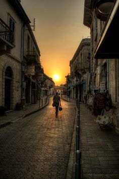 Sunset in the old town of Limassol, Cyprus. http://www.HotelTravelVacation.com http://www.VacacionesReales.com