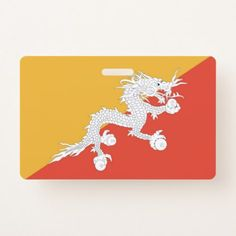 Name Badge with flag of Bhutan - stylish gifts unique cool diy customize