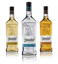 el Jimador Tequila designed by Brown-Forman Design & Cue Design Tequila Bottles, Tequila Drinks, Vodka Bottle, Alcoholic Drinks, Cocktails, Water Bottles, Wine Design, Bottle Design, Jimador Tequila
