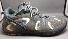 Alpine Design Hiking Shoes 7.5 Womens Suede Outdoor Trail Boots Gray Blue