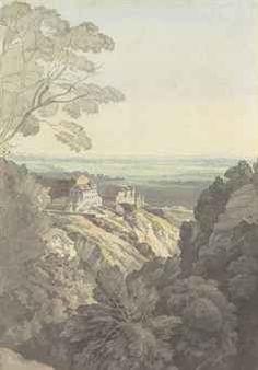 """""""John White Abbott""""   John White Abbott (Exeter 1763-1851)   Bristol from the Downs ..."""