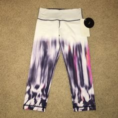 *RARE* Lululemon Wunder Under Crop These are brand new with tags on. A very rare design, in perfect condition. lululemon athletica Pants Leggings