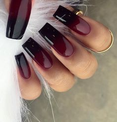 The Best Short And Long Nail Art Designs Inspiration Sexy Nails, Fancy Nails, Stiletto Nails, Coffin Nails, Acrylic Nails, Fabulous Nails, Gorgeous Nails, Pretty Nails, Black Ombre Nails