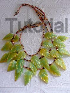 Polymer Clay Tutorial Jade Leaves