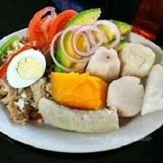 Codfish with Root Vegetables, Viandas con Bacalao Recipe - Seafood Salad Puerto Rican Dishes, Puerto Rican Cuisine, Puerto Rican Recipes, Chef Recipes, Fish Recipes, Cooking Recipes, Healthy Recipes, What's Cooking, Recipies