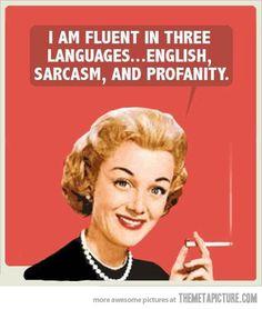 I'm fluent in 3 languages…