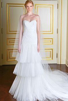 Brides.com: . Wedding dress by Marchesa