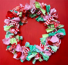 love scrap fabric wreaths