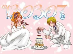 Sanji kun it must be in middle of the cake ^3^'' don't make it fall