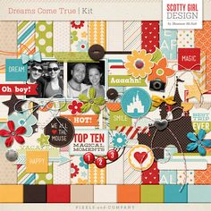 "<p> ""All our dreams can come true, if we have the courage to pursue them."" - Walt Disney Capture your favorite memories with Dreams Come True. This colorful collection was inspired by Walt Disney World's Magic Kingdom and features bold and bright patterns, hand drawn designs, and plenty of magic. Includes 12 patterned papers and 9 solids and%2..."