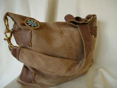 Order this bag or have on made in a custom colorStevie Collection Suede/Leather Hobo by LynnieLinns on Etsy, $95.00