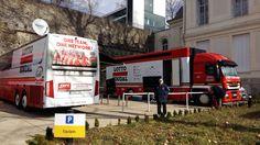 Lotto Soudal (Paris-Nice 2016) team bus and mechanics truck #cycling