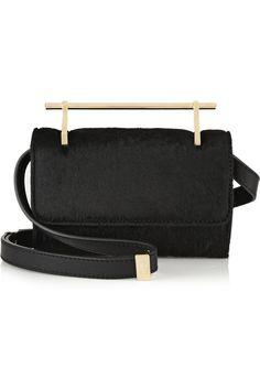 ** M2Malletier|Fabricca mini calf hair shoulder bag|NET-A-PORTER.COM