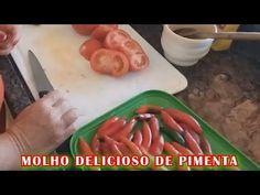 Molho delicioso de pimenta - Vida na Roça - Coisas da Roça - Natureza - Recanto Sossego - YouTube Plastic Cutting Board, Videos, Youtube, Food, Life On The Farm, Hearts Of Palms, Spices, Beverages, Essen