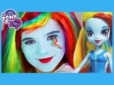 My Little Pony Rainbow Dash Makeup Tutorial!  Equestria Girl Doll Cospla...