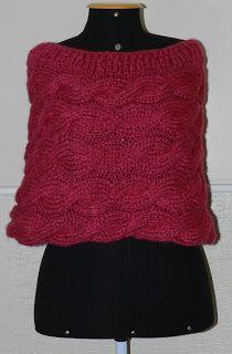 Poncho de tranças rosa