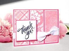 Handmade Thank You Card Coral Carnation by TheHumbleShop on Etsy, $4.95