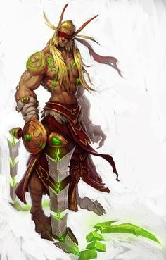A concept for the Blood Elf Demon Hunters, for Legion