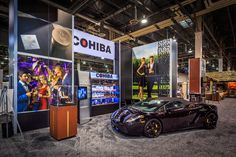 Hill & Partners found a Lamborghini to add some spice to the Cohiba feature area in the 2013 General Cigar #exhibit