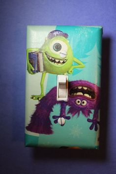 Monsters Inc Mike Wazowski Art Light Switch Cover room home decor university