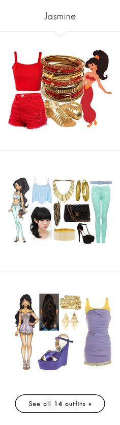 """""""Jasmine"""" by dutchveertje ❤ liked on Polyvore featuring Disney, Amrita Singh, Club L, Forever 21, GABALMANIA, Forever New, Manuel Ritz, Belle Noel by Kim Kardashian, Lord & Taylor and JustFab"""