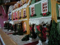 Majestic and stunning gingerbread row houses by Barry Parsons.