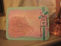 A simple thank you card - Papertrey Ink products and stamps