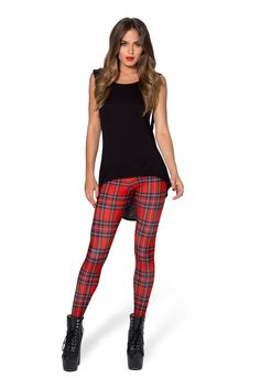 1083fd01c2a457 Tartan Red Toasties Red Leggings, Leggings Are Not Pants, Tartan Leggings,  Black