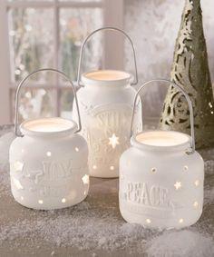 Another great find on #zulily! Porcelain Lantern Set #zulilyfinds