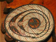 pine needle basket by Ava Sears SOLD $100.00