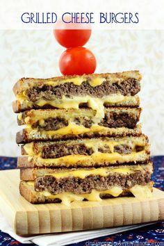Award Winning Grilled Cheese Burgers