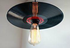 deko aus schallplatten lampenschirm aus alter schallplatte