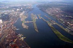 IJmuiden sluis Noordzeekanaal
