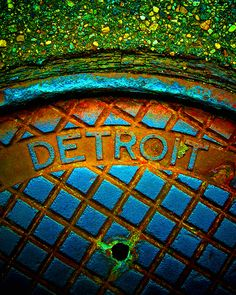 Metro Devious Detroit Man Hole cover Matt saw this on Fox 2 News and has always liked it. I will have to get him a print of it. Detroit Rock City, Detroit Art, Detroit History, Metro Detroit, Detroit Houses, State Of Michigan, Detroit Michigan, Detroit State, Detroit Riots