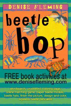 ★ Make beetle crafts—squeeze beetle pancakes, paper beetle models, beetle…