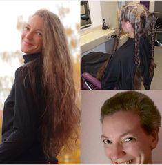 Long To Short Hair, Braids For Long Hair, Long Hair Cuts, Short Cuts, Short Hair Styles, Before And After Haircut, Twin Braids, Beautiful Long Hair, Barber Shop