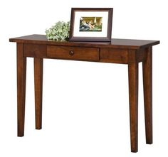 Amish Handcrafted Shaker Sofa Table Craftsman Collection Bring timeless appeal to one of the most-used spaces in your home. Our Amish Handcrafted Shaker Sofa Table offers classic charm for decades. Sofa Table Decor, Sofa Tables, Family Room Furniture, Furniture Making, Wood Furniture, Amish Furniture, Furniture Plans, Rustic Sofa, Rustic Table