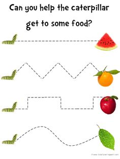 Preschooler activity - Great for The Very Hungry Caterpillar