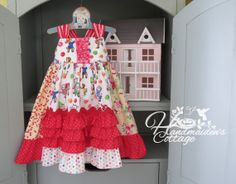 Kitty Picnic Dress...Ready to ship Size 3T by HandmaidensCottage, $55.00