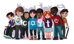 This picture have been illustrated by a 7 year old girl named Sarah Harrison from Connecticut. This is Sarah's entry for the US . Google Doodles, Doodle 4 Google, Google Doodle Contest, Doodle For Google Winners, Google Student, Google Homepage, Different Races, Les Religions, Collage