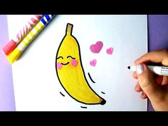 CUTE FOOD : HOW TO DRAW A CUTE BANANA | EASY DRAWING - YouTube