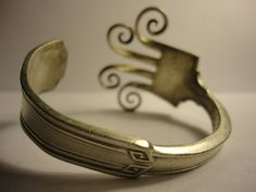 Silver-plated fork bracelet from Etsy
