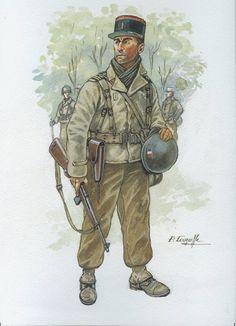 French; Foreign Legion, Officer, Bavaria 1945